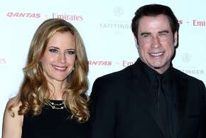 John Travolta has practiced Scientology since 1975 and attributes it to his breakout success in 'Welcome Back Kotter.'   His wife Kelly Preston also is a member of the church, and the two often publicly support its charity efforts.   (Photo by Marianna Massey/Getty Images)