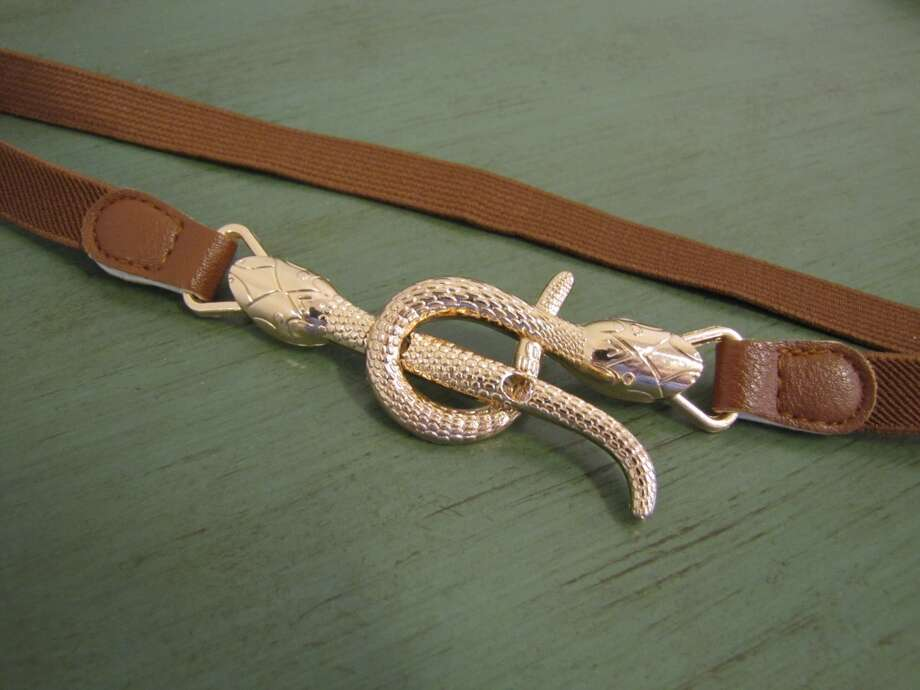 Snake stretch belt, $15, Daisy Parc Boutique, Nederland