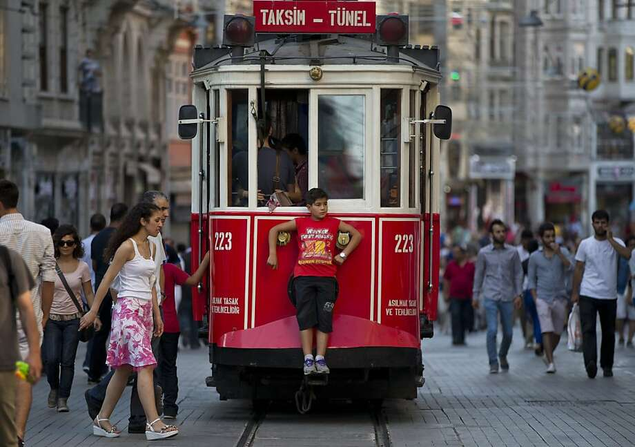 Youth discount:How to avoid paying streetcar fare in Istanbul. Photo: Vadim Ghirda, Associated Press