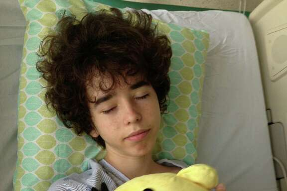 Ben on a good day in the hospital.