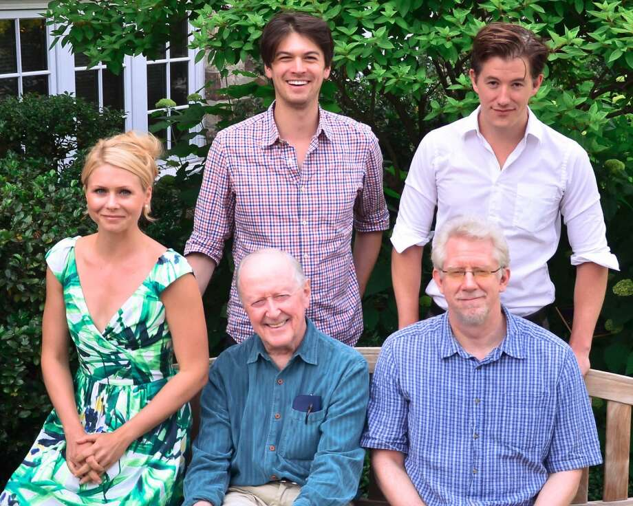 "The Joe Orton black comedy ""Loot"" is being presented at the Westport Country Playhouse in Westport, Conn., from July 16 through Aug. 3, 2013. The cast includes (top, from left) Devin Norik, Zach Wagner (seated, from left) Liv Rooth, John Horton, David Manis."