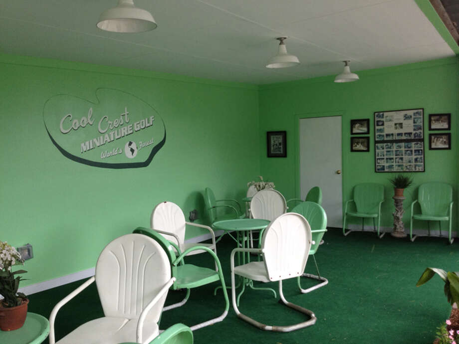 The new owners of Cool Crest have restored the iconic mini-golf course, down to the mint green paint. Photo: Karen-Lee Ryan/Express-News
