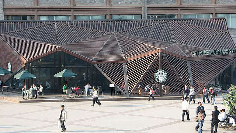 Starbucks with the best Cubist personality: In Xi'an, China.