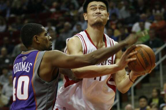 Yao Ming  2002-2011  An eight-time All-Star, Yao was the first international player to be drafted No. 1 overall. He was eventually slowed by a series of injuries that forced him to retire early. Ranks sixth all time for Rockets in total points, fifth in total rebounds and second in blocked shots.