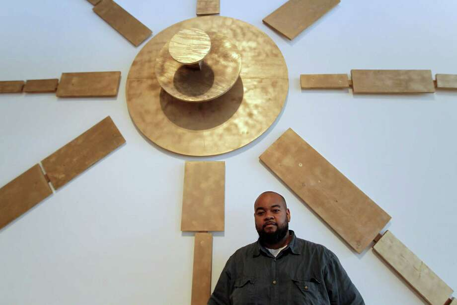 "Artist Robert Pruitt serves as curator of exhibit ""Coming Through the Gap in the Mountain on an Elephant."" Photo: James Nielsen, Staff / © 2013  Houston Chronicle"