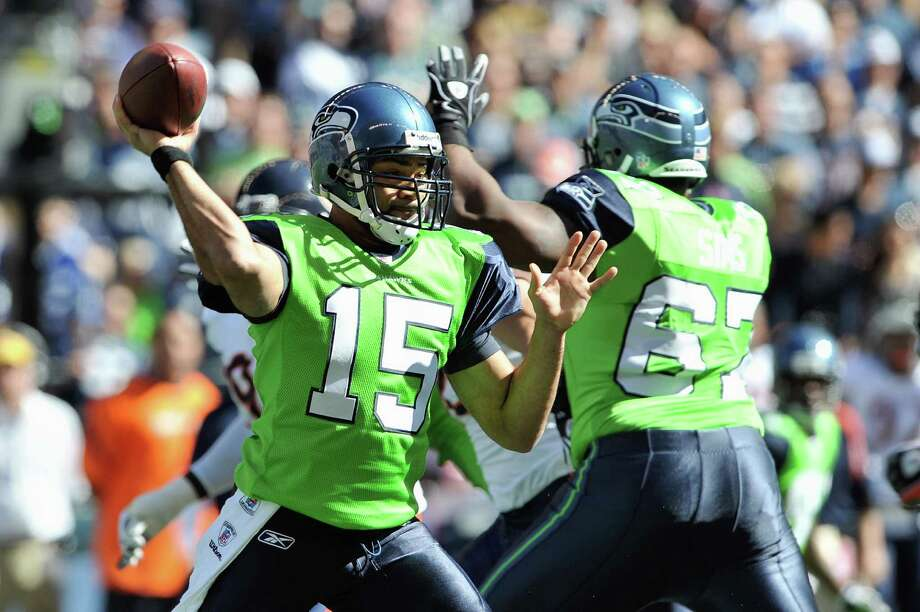 On Sept. 27, 2009, the Seahawks wore bright green home jerseys against the Chicago Bears. Photo: Otto Greule Jr., Getty Images / 2009 Getty Images