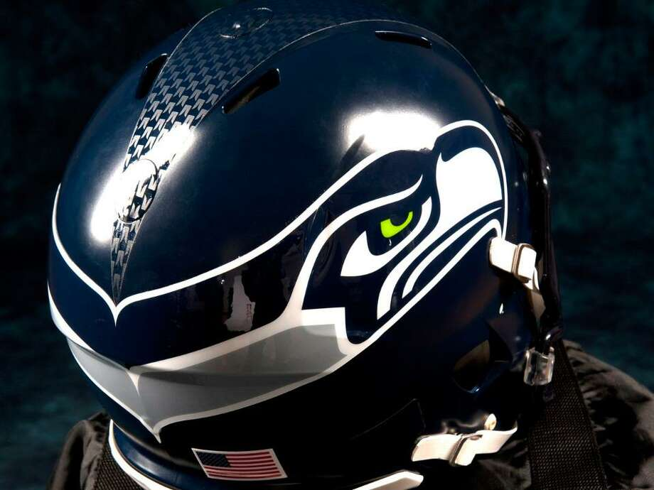 The bottom bar in the updated Seahawks logo is gray instead of light blue. Photo: Seahawks Image