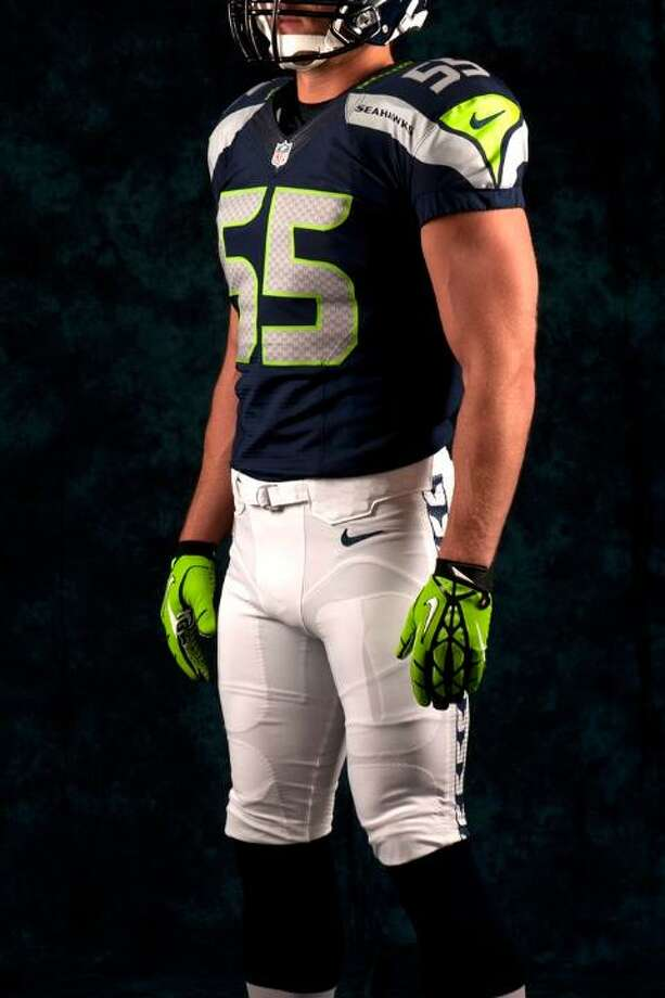 A blue jersey, white pants combination. Photo: Seahawks Image