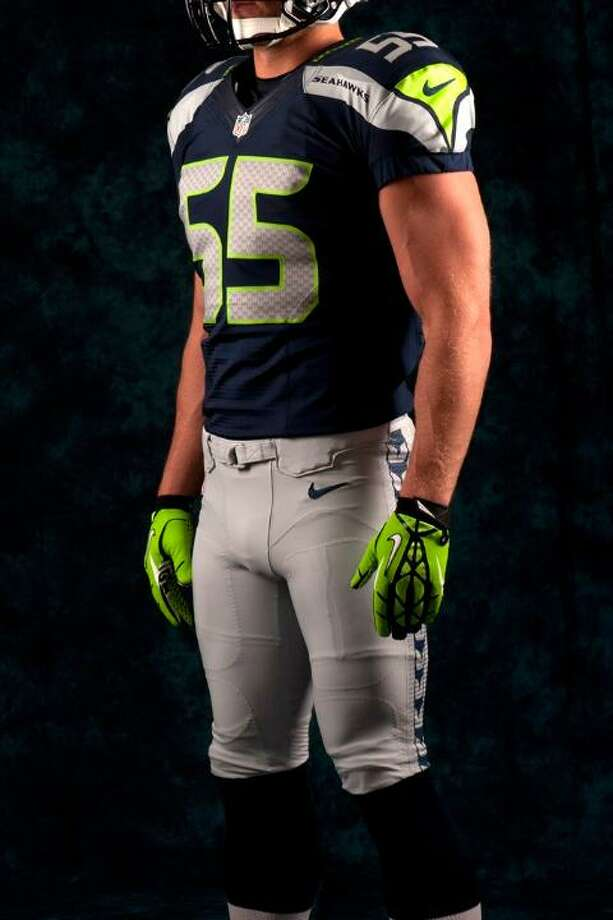 A blue jersey, gray pants combo. Photo: Seahawks Image