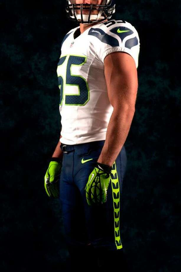 A white jersey, blue pants combo. Photo: Seahawks Image