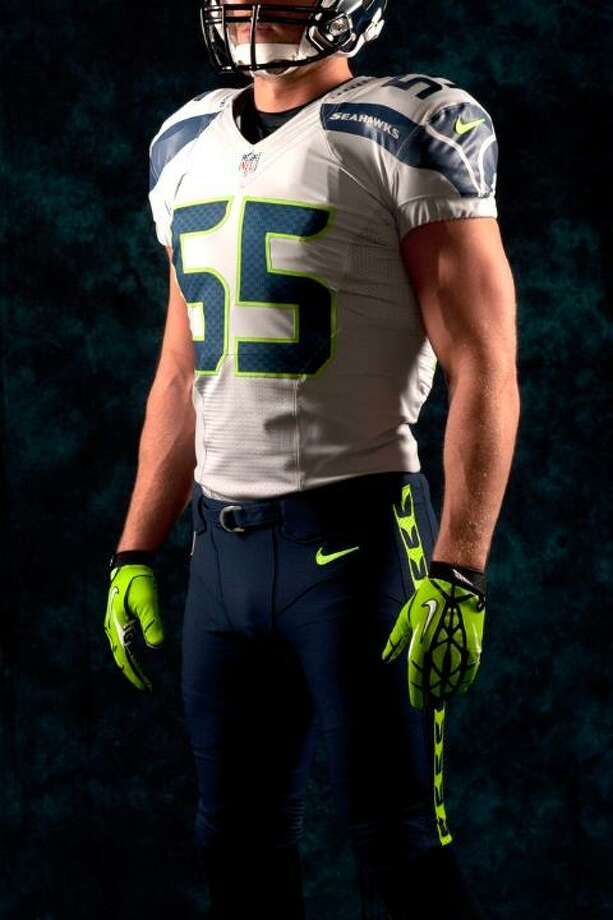 A gray jersey, blue pants combo. Photo: Seahawks Image