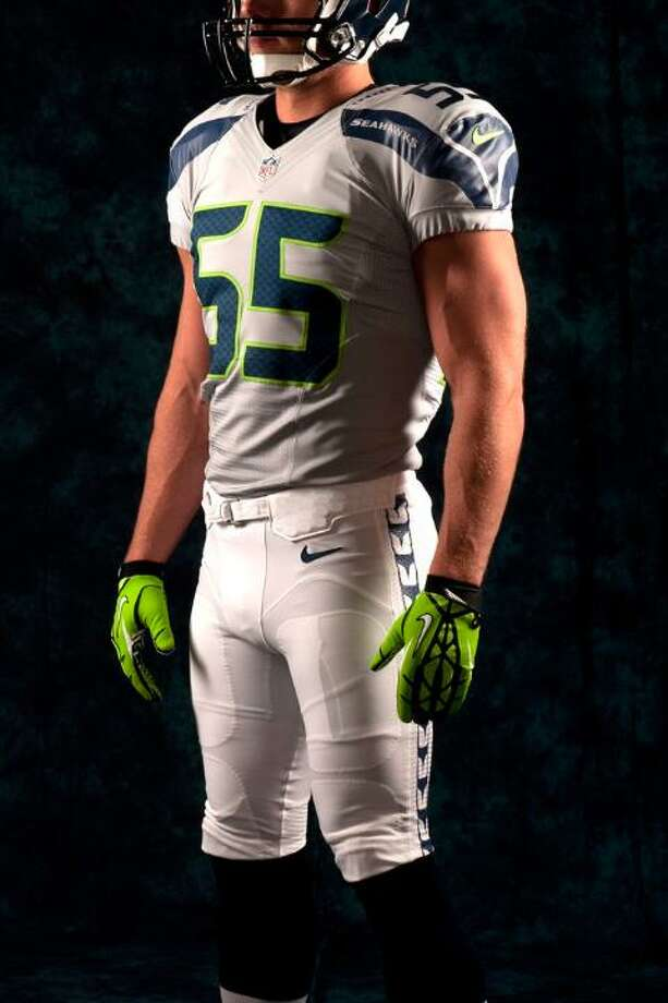 A gray jersey, white pants combo. Photo: Seahawks Image