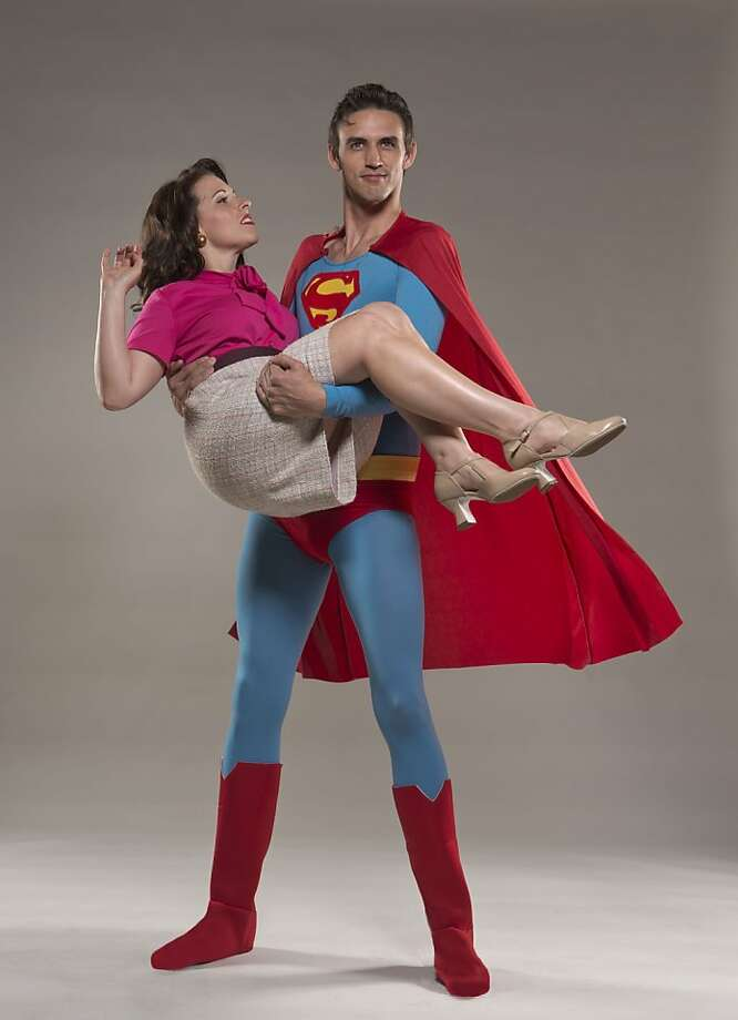 "Lois Lane (Jen Brooks) places her trust in Superman (Lucas Coleman) in ""It's a Bird ... It's a Plane ... It's Superman,"" running Wednesday through Oct. 20 at the Eureka Theatre. Photo: David Allen"