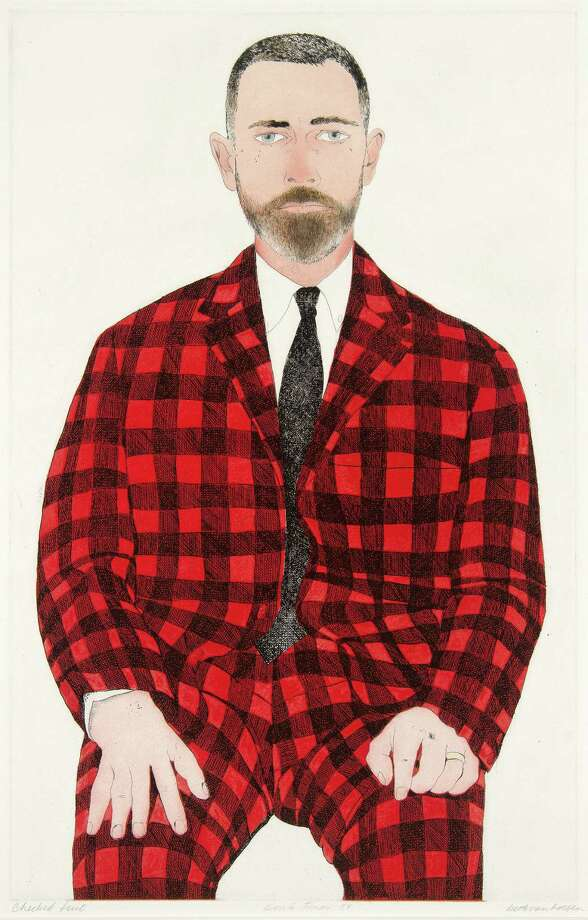 """Checked Suit"" (1968-70) is part of the McNay exhibit."