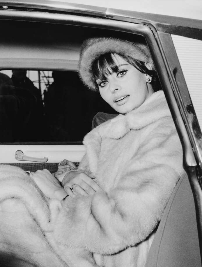 Sophia Loren in a fur coat (and hat) in December, 1962 in Milan, Italy. (Photo by Keystone-France/Gamma-Keystone via Getty Images)