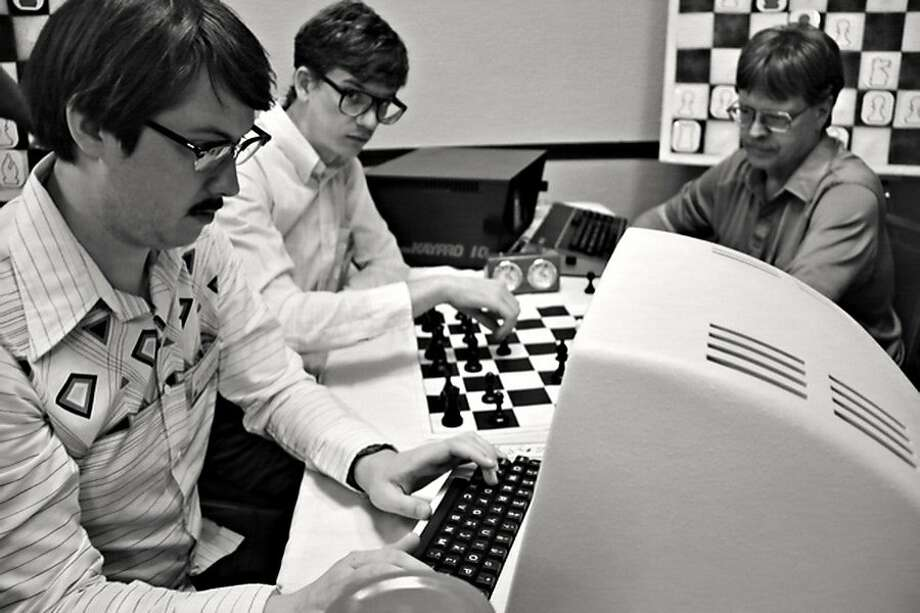 "Writer- director Andrew bujalski's ""Computer Chess"" follows a man-versus- machine chess tournament. Photo: Kino Lorber Films"