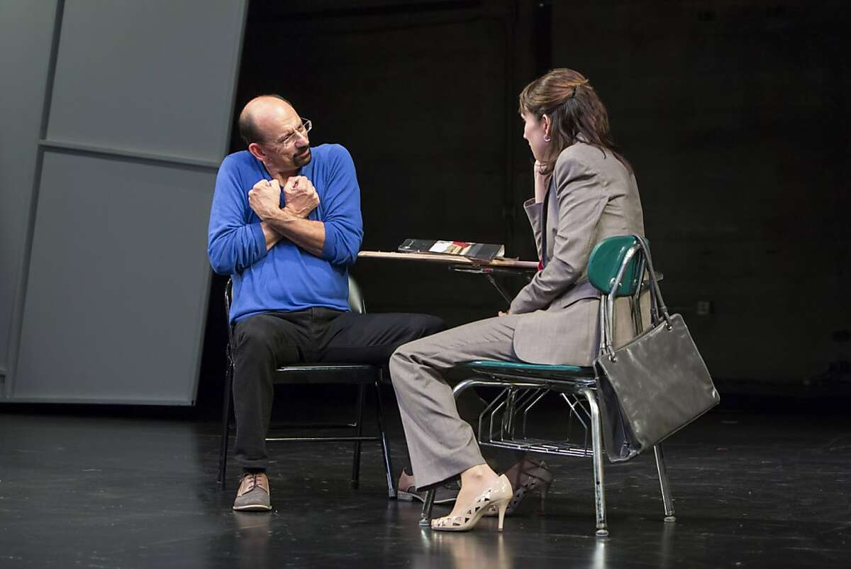 Haylee (Julie Fitzpatrick, right) and Jordan (Adrian Blue) have an earnest conversation when they first meet in