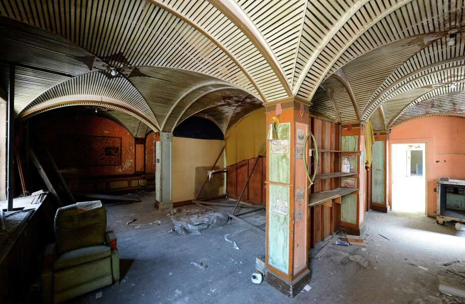 The Interior Of Troy Hotel Which Is Under Renovation Friday Morning July