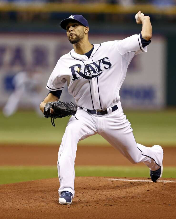 Rays starting pitcher David Price throws during the first inning.