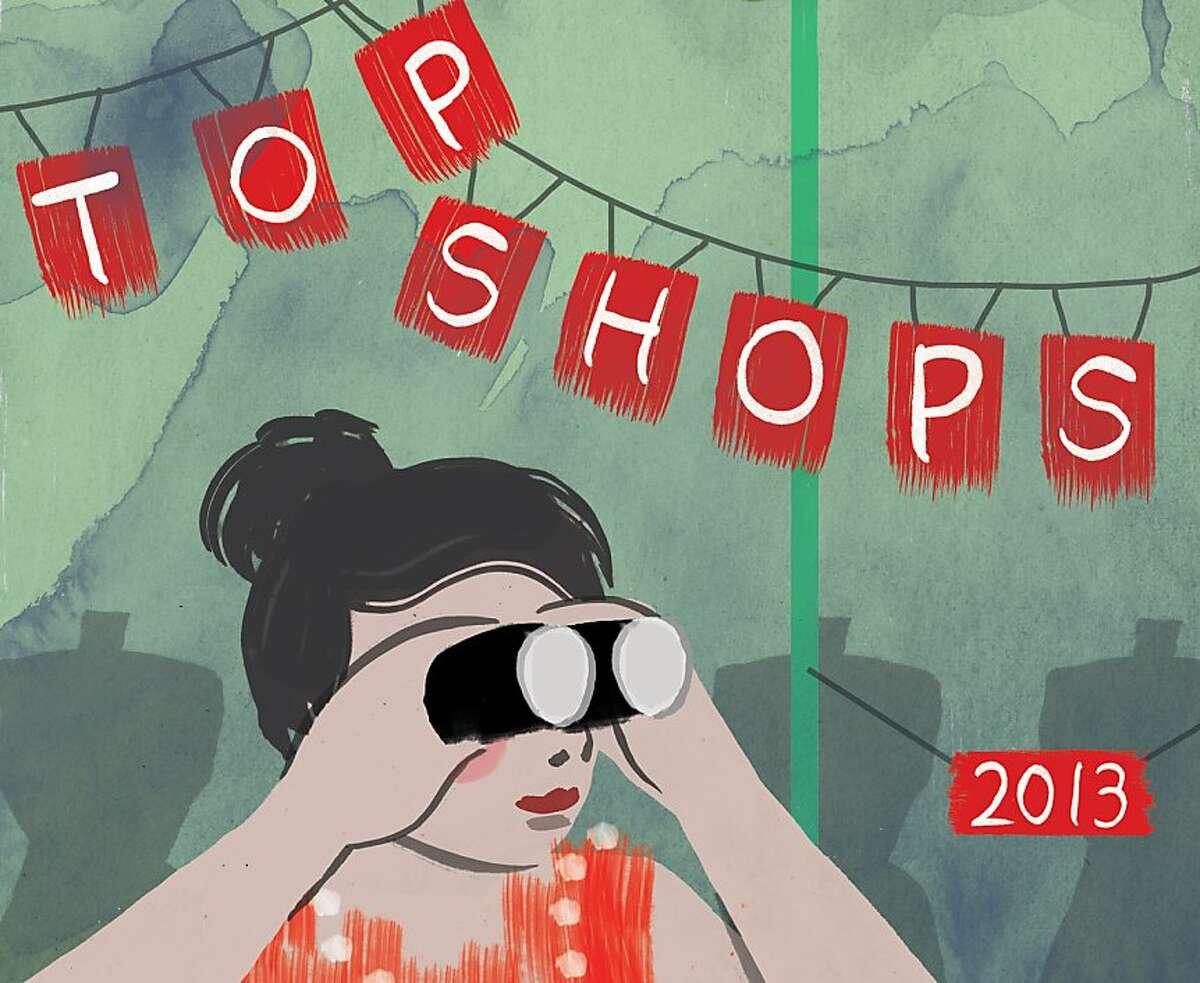 Top 100 Shops illustration by Aki Neumann