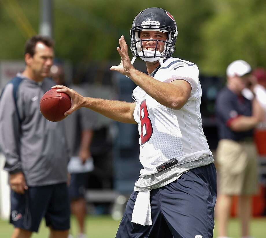 "Texans quarterback Matt Schaub says ""it's a new year, a new team"" as he gets ready to take the field Friday for the start of training camp. Photo: Bob Levey, Photographer / ©2013 Bob Levey"