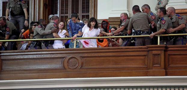 Senate debates passage of abortion legislation on July 12, 2013. Photo: TOM REEL