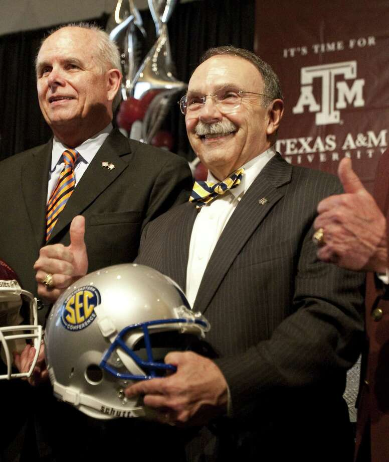 A&M president R. Bowen Loftin was the central figure in the exit from the Big 12 to the SEC two years ago.