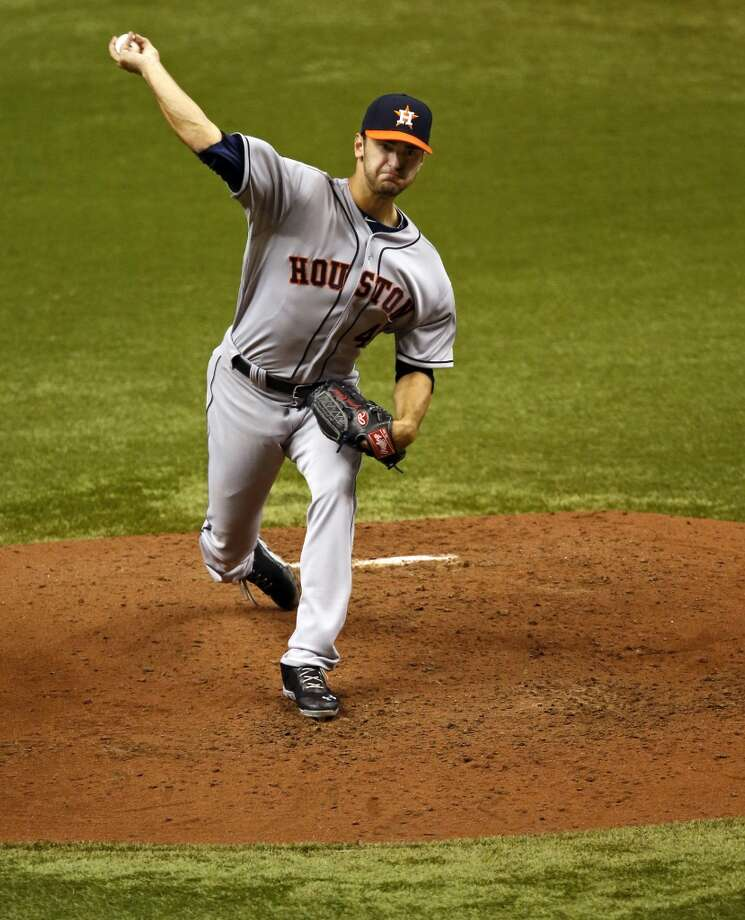 July 12: Astros 2, Rays 1 Jarred Cosart's MLB debut was nothing short of spectacular as he shut down the Rays for eight innings of shutout ball while recording his first big-league victory.  Record: 33-59. Photo: MIKE CARLSON, Associated Press