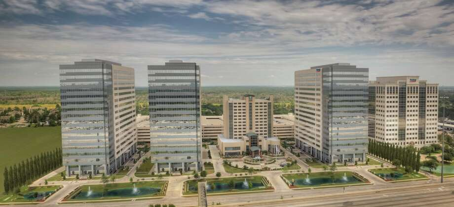 The Energy Plaza development at Kirkwood and Interstate 10 will soon see the construction of Energy Tower IV. The first three towers are 100 percent leased.  Photo: Courtesy Of Mac Haik Realty