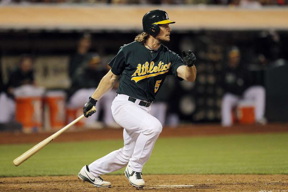 John Jaso missed the last two months of the season after a concussion, and he could spend most of his time at designated hitter. Photo: Carlos Avila Gonzalez, The Chronicle