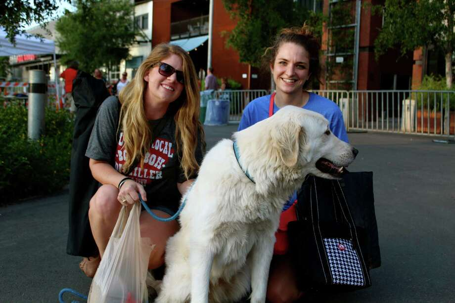 Movie goers enjoy Friday Night Movies at the Pearl Brewery on July 12, 2013. Photo: Yvonne Zamora, MySA.com/ SA