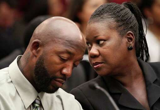 April 5, 2013 – Trayvon Martin's parents settle a wrongful death claim against the homeowners association where Trayvon was fatally shot. Photo: Jacquelyn Martin / Copyright 2012 The Associated Press. All rights reserved. This material may not be published, broadcast, rewritten or redistribu