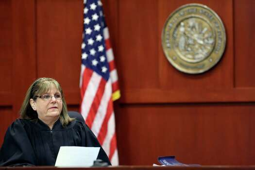 May 28, 2013 – Judge Debra Nelson rules that future jury members will remain anonymous and not allowed to be taken to the scene of the shooting. She also rules that Trayvon Martin's past use and/or familiarity with guns, marijuana and fighting cannot be brought up during the trial. (AP Photo/Orlando Sentinel, Gary Green, Pool) Photo: Gary Green, Associated Press / Pool Orlando Sentinel