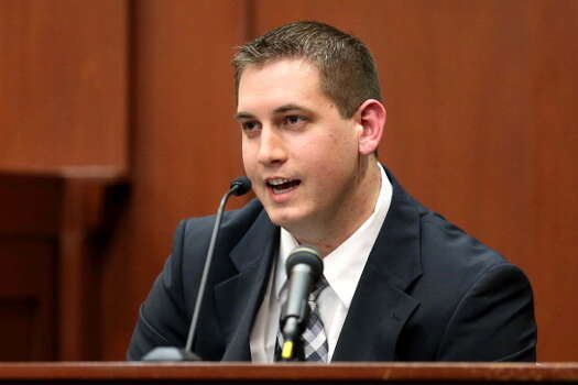 "June 24, 2013 – After the prosecution's first witnesses largely laid out Trayvon Martin's whereabouts earlier the evening of the shooting, 911 dispatcher Sean Noffke takes the stand. Noffke took Zimmerman's initial non-emergency call during the time before the shooting when the defendant pursued Martin on the street. During the call, Noffke told Zimmerman ""We don't need you to do that."" (Getty Images) / 2013 Getty Images"