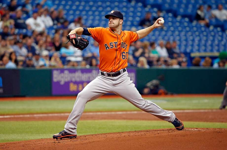 Dallas Keuchel pitches against the Rays.