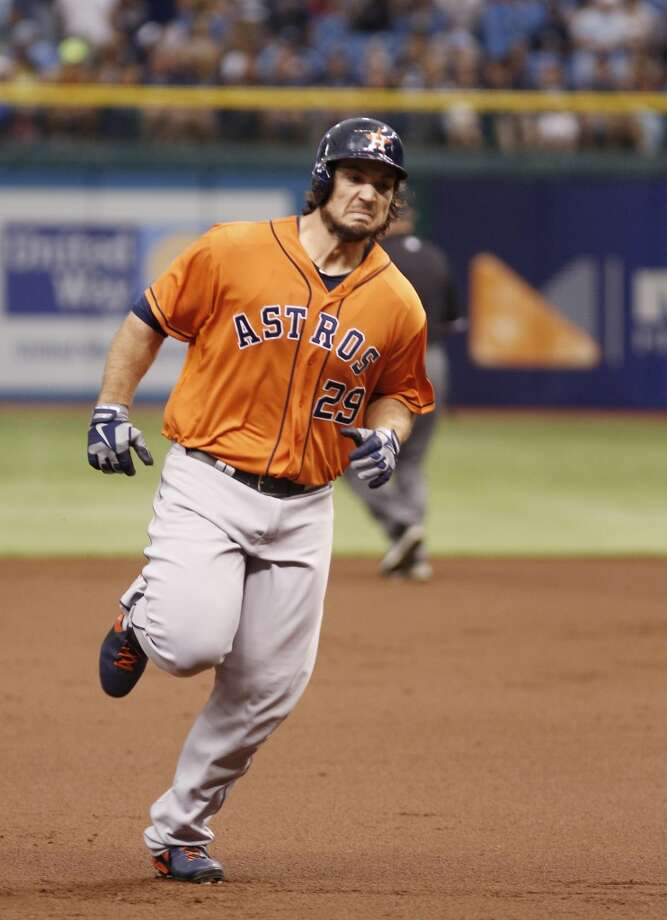Brett Wallace rounds the bases after hitting a home run.
