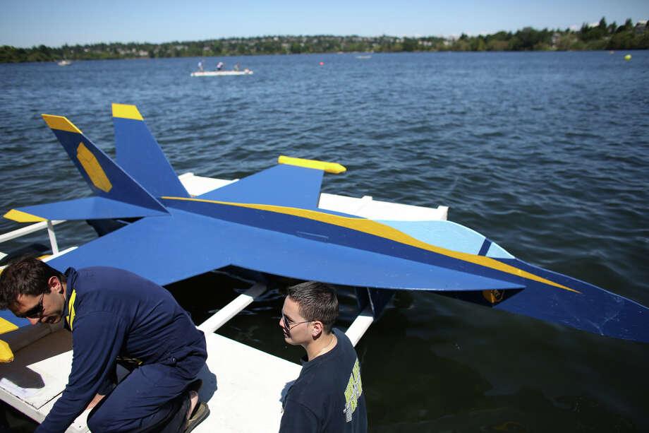 A Blue Angles-themed boat is shown. Photo: JOSHUA TRUJILLO, SEATTLEPI.COM