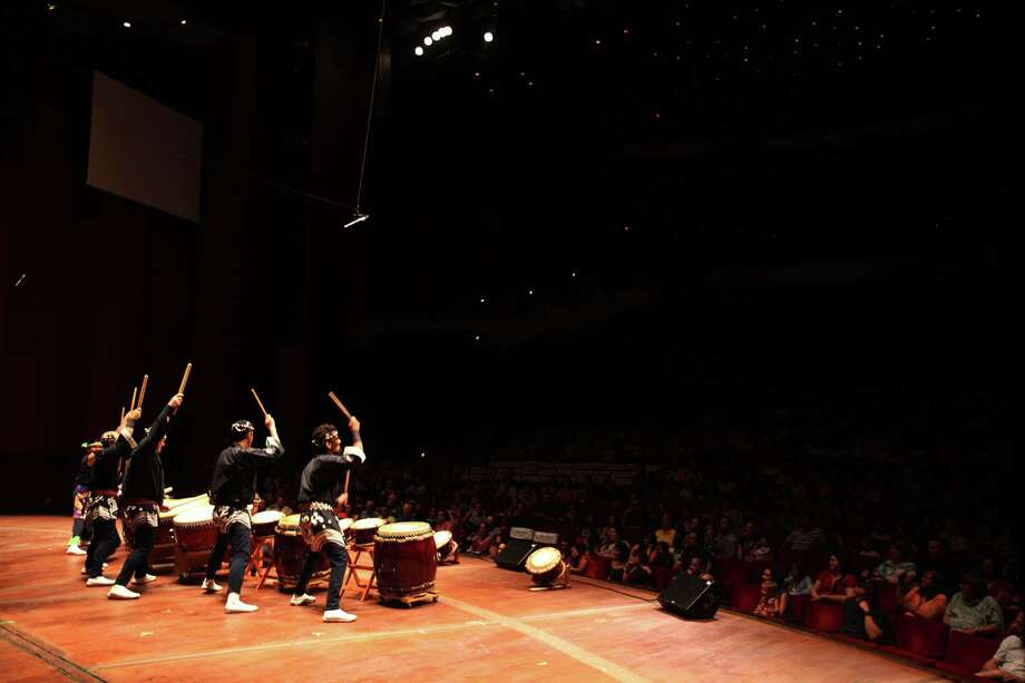 Kaminari Taiko performs during 'Day of Music' at Jones Hall on Saturday, July 13, 2013, in Houston. Photo: Mayra Beltran / © 2013 Houston Chronicle