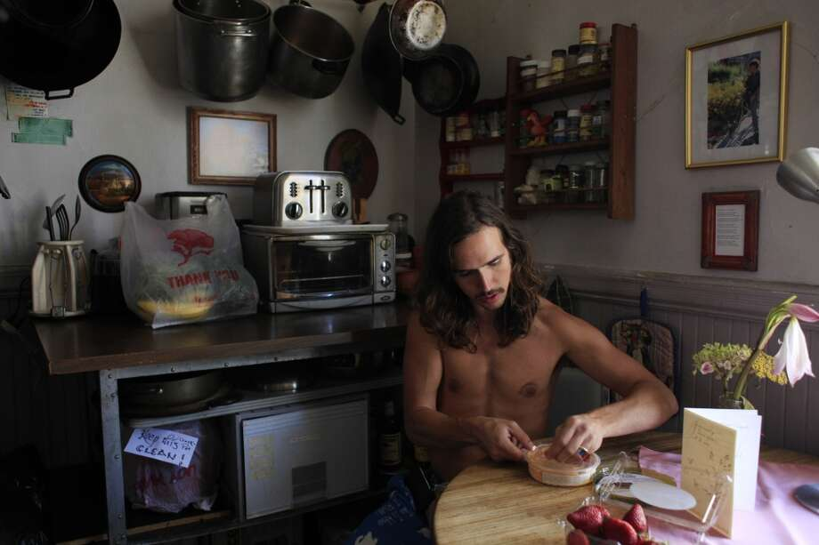 "At home in San Francisco, Travis ""Topless Travis"" Sigley said being shirtless has made him more aware of his body and his surroundings."