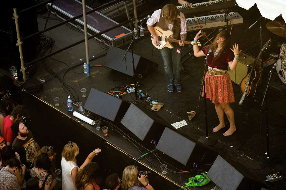 Rose Windows performs during Sub Pop's Silver Jubilee Saturday, July 13, 2013, in the Georgetown neighborhood of Seattle. The free event commemorated 25 years of existence for the Seattle-local label. Photo: JORDAN STEAD, SEATTLEPI.COM / SEATTLEPI.COM