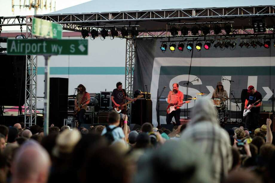 Built to Spill performs during Sub Pop's Silver Jubilee Saturday, July 13, 2013, in the Georgetown neighborhood of Seattle. The free event commemorated 25 years of existence for the Seattle-local label. Photo: JORDAN STEAD, SEATTLEPI.COM / SEATTLEPI.COM
