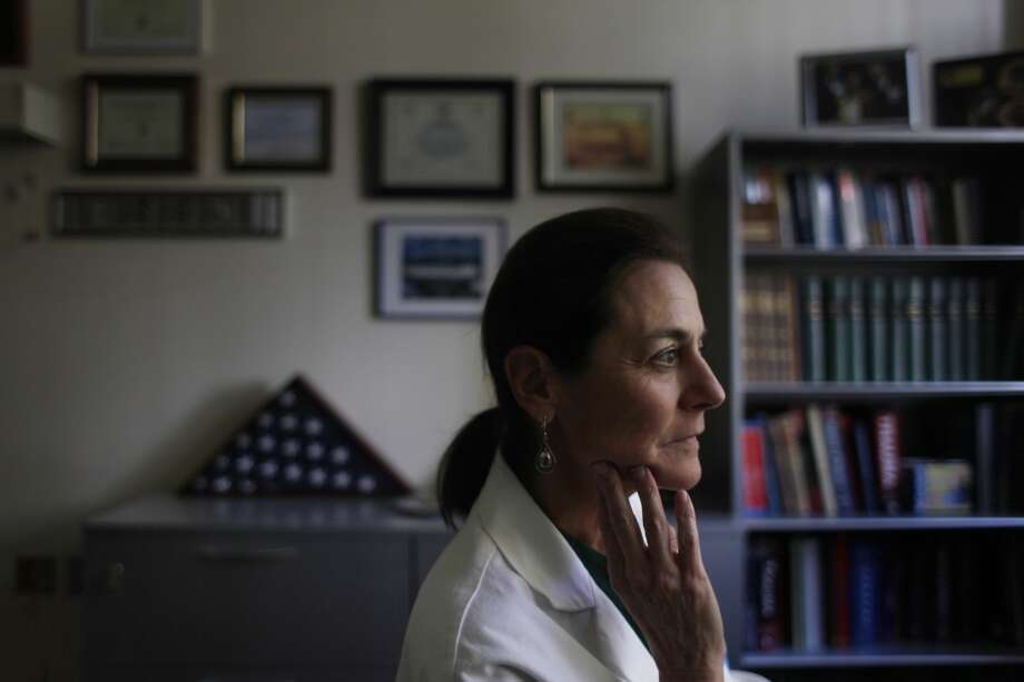 Margaret Knudson, San Francisco General Hospital chief of surgery, is seen in her office on Wednesday, July 10, 2013 in San Francisco, Calif.