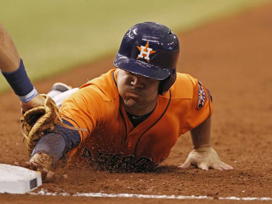 July 13: Rays 4, Astros 3Three first-inning runs weren't enough for the Astros to hold on in the second game of the series against the Rays.  Record: 33-60. Photo: Scott Iskowitz, Associated Press