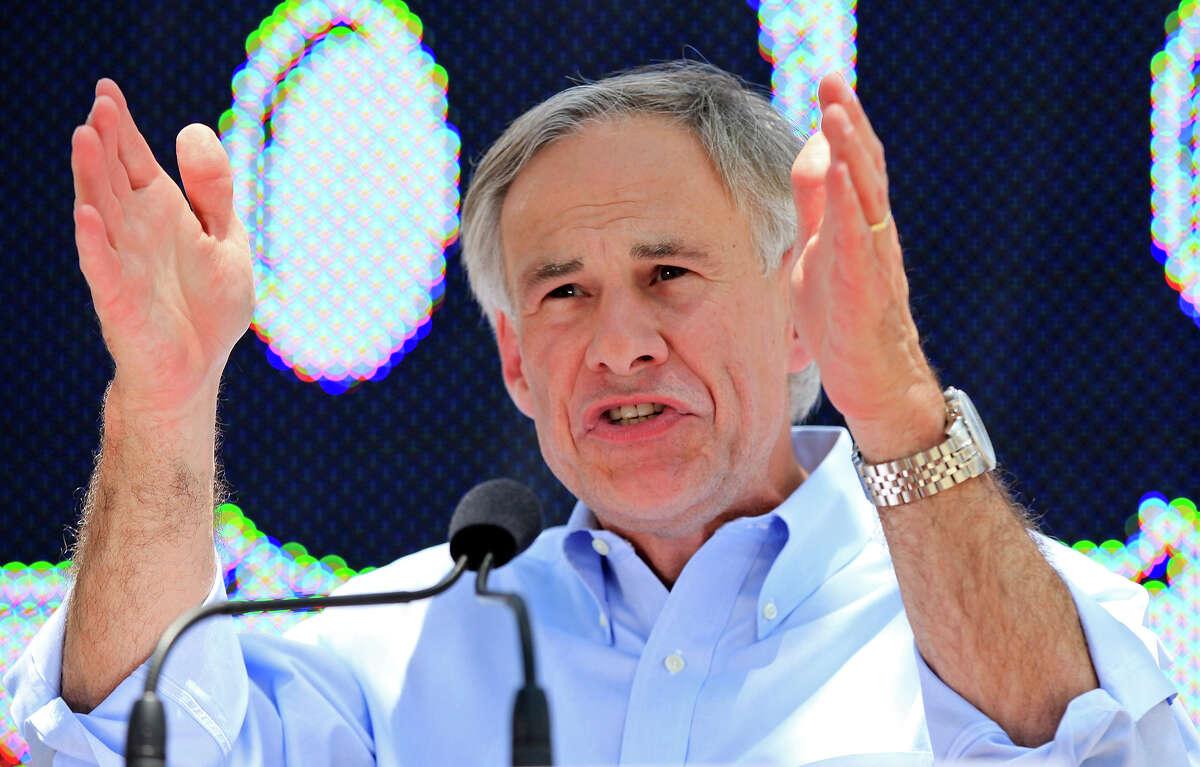 Texas Attorney General Greg Abbott speaks Sunday July 14, 2013 in La Villita. Abbott announced his 2014 campaign for the GOP gubernatorial nomination.