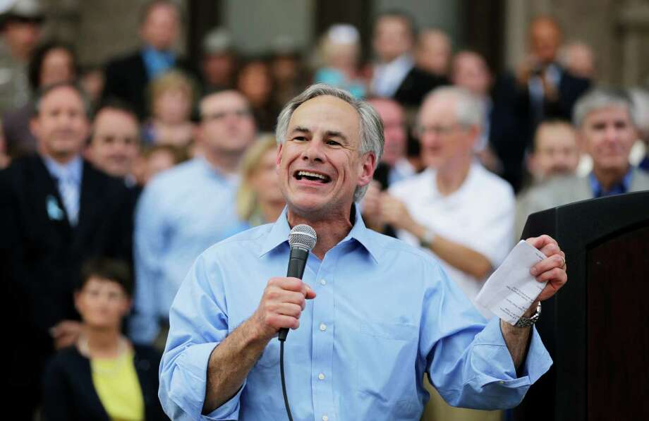 Texas Attorney General Greg Abbott speaks at an anti-abortion rally recently in Austin. Abbott announced his candidacy for Texas governor on Sunday. Photo: Eric Gay, STF / AP