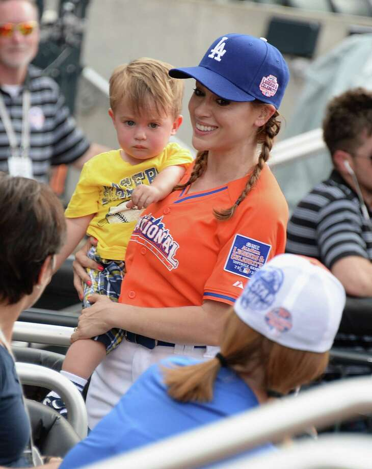 Alyssa Milano and son Milo Thomas Bugliari attend the 2013 Taco Bell All-Star Legends & Celebrity Softball Game at Citi Field on July 14, 2013 in the Queens borough of New York City. Photo: Theo Wargo, WireImage / Getty Images