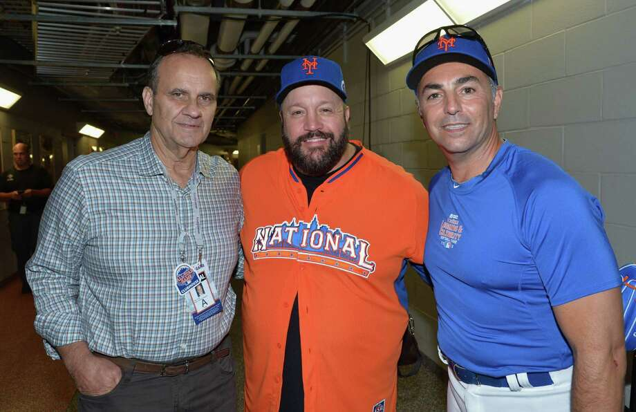 (L-R) Former professional baseball player/manager Joe Torre, actor/comedian Kevin James, and former professional baseball player John Franco attend the Taco Bell All-Star Legends & Celebrity Softball Game at Citi Field on July 14, 2013 in New York City. Photo: Mike Coppola, Getty Images / Getty Images