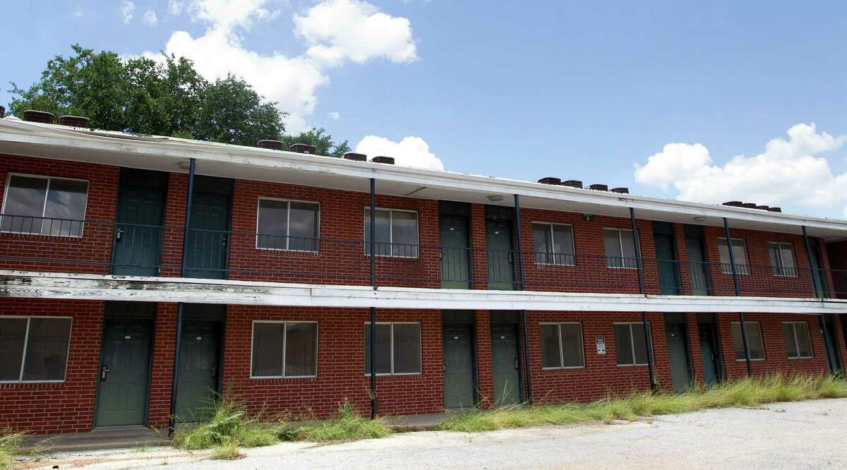 A six-building complex, Magnolia Glen sits vacant in the 3800 block of Gulf Freeway,. The county and a nonprofit plan to renovate it into a permanent housing for the homeless.