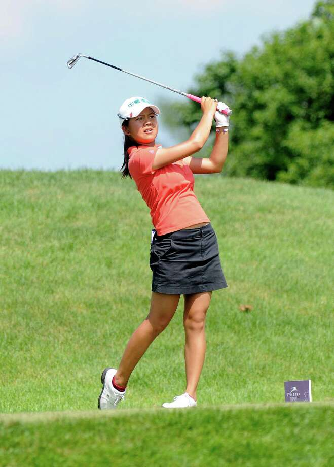 Wei-Ling Hsu watches her drive during the final round of the Credit Union Challenge on the Symetra Tour stop held at Capital Hills golf course in Albany, N.Y., Sunday, July 14, 2013. (Hans Pennink / Special to the Times Union) ORG XMIT: HP101 Photo: Hans Pennink / Hans Pennink