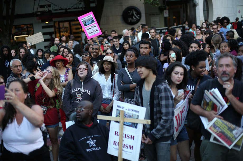 Protesters gather at Westlake Park. Photo: JOSHUA TRUJILLO, SEATTLEPI.COM